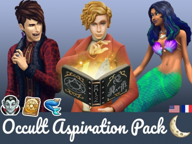 New Aspirations Traits rewards for Occult Sims