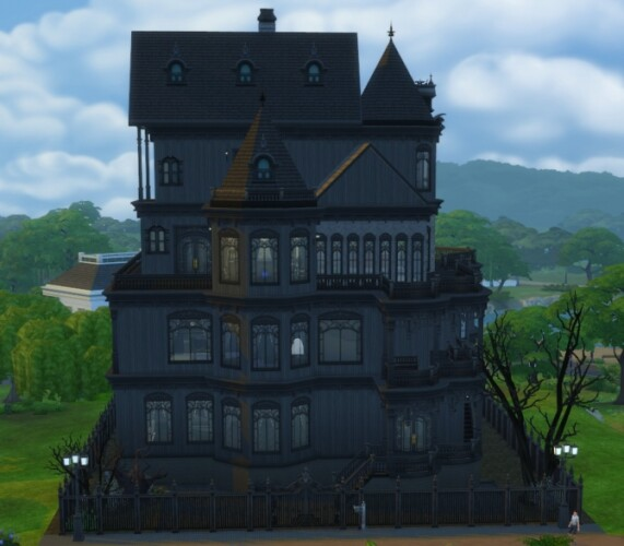 Four-story revamp of the Goth family Ophelia Villa mansion by xordevoreaux
