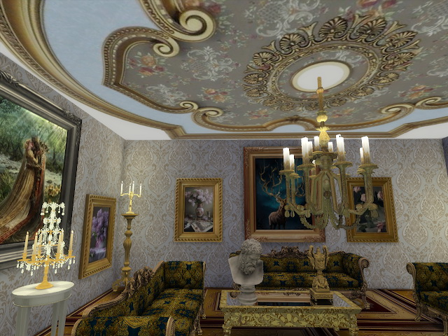 Amazing Golden Ornamented Ceilings Set VI at Anna Quinn Stories image 1895 Sims 4 Updates