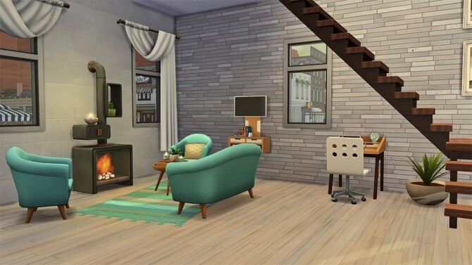 Sims 4 Cactus Eco Home at Frenchie Sim