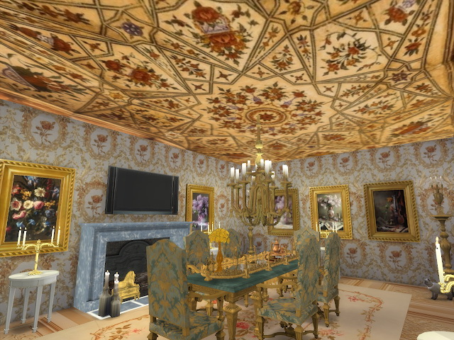 Amazing Golden Ornamented Ceilings Set VI at Anna Quinn Stories image 19210 Sims 4 Updates