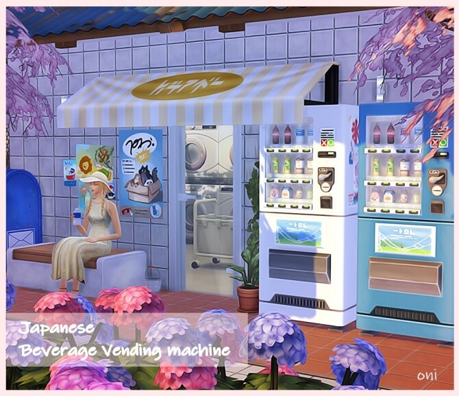 Sims 4 Japanese beverage vending machine by oni at Mod The Sims