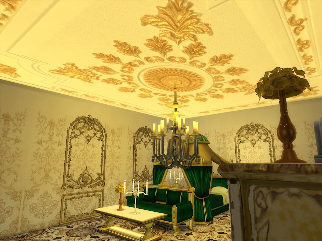 Amazing Golden Ornamented Ceilings Set VI at Anna Quinn Stories image 1936 Sims 4 Updates