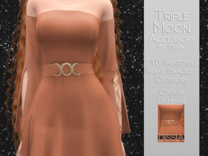 Triple Moon Accessory by Dissia