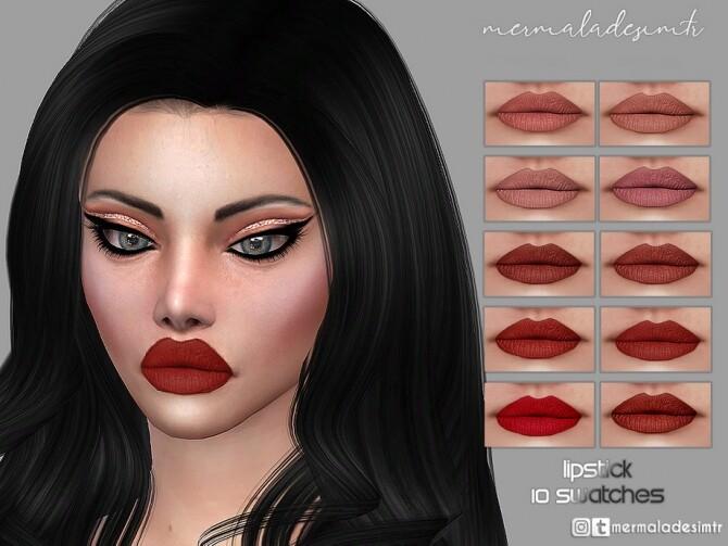 Sims 4 Lipstick MM12 by mermaladesimtr at TSR