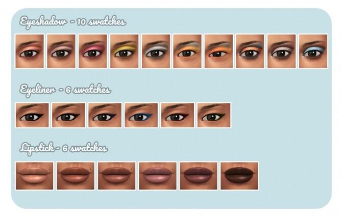 Sims 4 Cut Crease Makeup Pack at Frenchie Sim