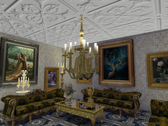 Amazing Golden Ornamented Ceilings Set VI at Anna Quinn Stories image 1955 Sims 4 Updates