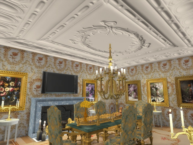 Amazing Golden Ornamented Ceilings Set VI at Anna Quinn Stories image 1965 Sims 4 Updates