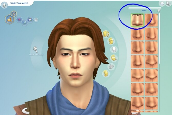 Sims 4 Brand New Nose slider by porkypine at Mod The Sims