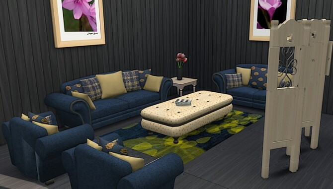 Sims 4 Carmen Livingroom Set at LIZZY SIMS