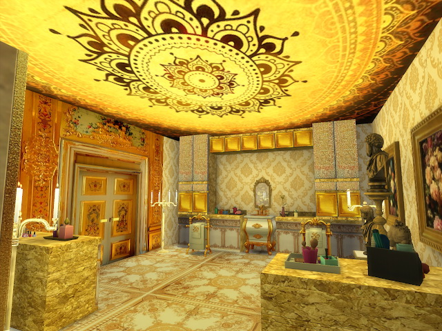 Amazing Golden Ornamented Ceilings Set V at Anna Quinn Stories image 1985 Sims 4 Updates