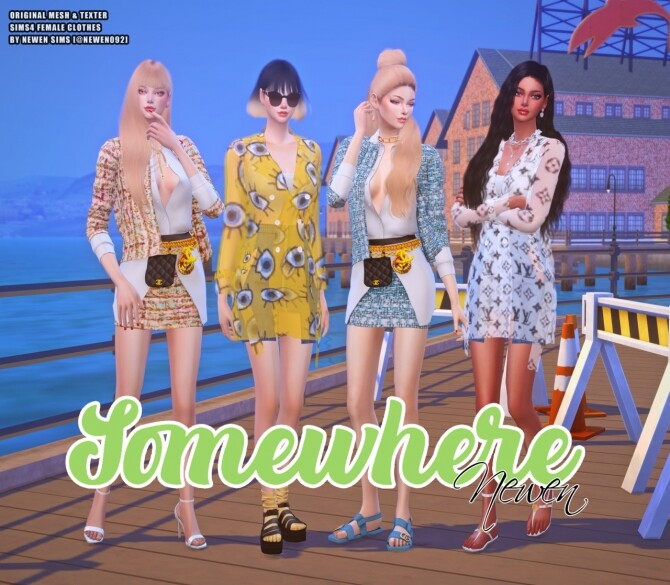 Somewhere clothes set at NEWEN image 1991 670x585 Sims 4 Updates