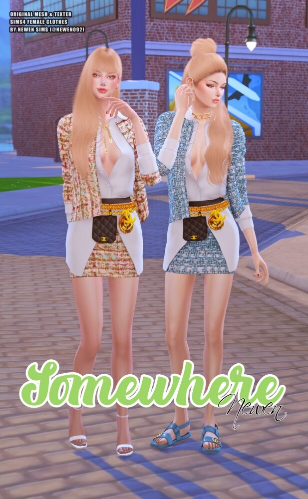 Somewhere clothes set at NEWEN image 2001 617x1000 Sims 4 Updates