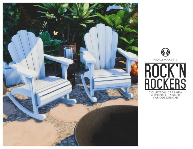 Rock'n Rockers Collection of 12 Rocking Chairs at Simsational Designs image 2004 670x517 Sims 4 Updates