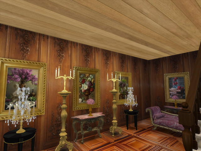 Amazing Golden Ornamented Ceilings Set V at Anna Quinn Stories image 2006 Sims 4 Updates