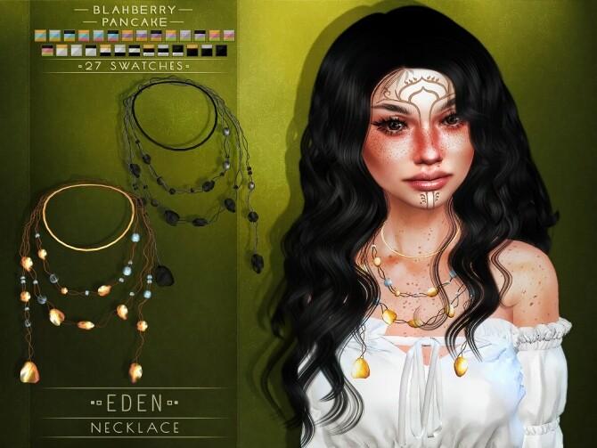 Eden necklace & face paint at Blahberry Pancake image 20113 670x503 Sims 4 Updates