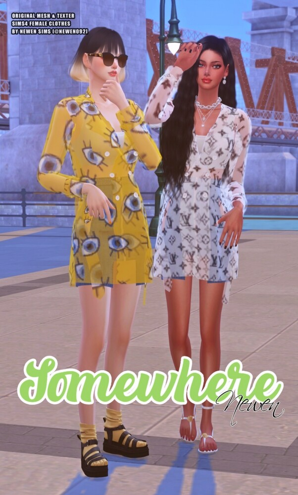 Somewhere clothes set at NEWEN image 2012 602x1000 Sims 4 Updates