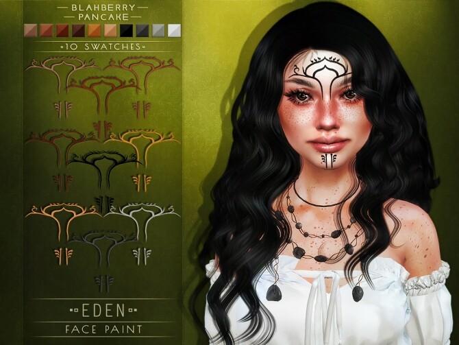 Eden necklace & face paint at Blahberry Pancake image 20211 670x503 Sims 4 Updates