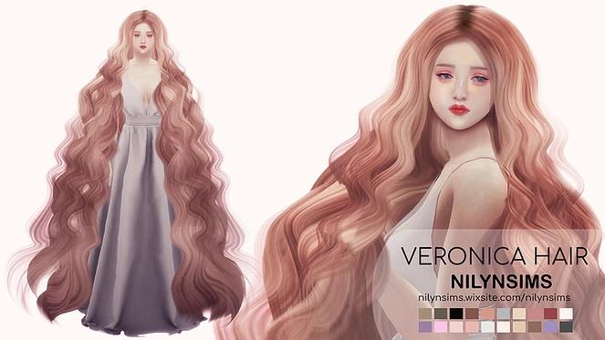 Sims 4 VERONICA HAIR at Nilyn Sims 4