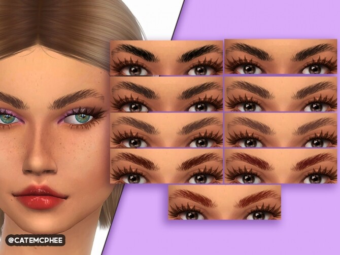 EB 07 Trendy Brows by catemcphee at TSR image 2030 670x503 Sims 4 Updates