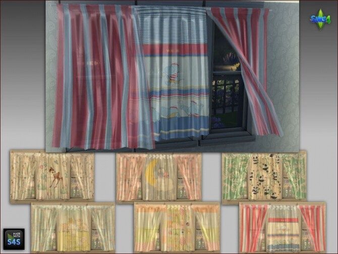 Curtains and pouf tables for kids at Arte Della Vita image 204 670x503 Sims 4 Updates