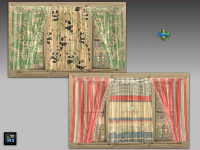 Curtains and pouf tables for kids at Arte Della Vita image 206 670x503 Sims 4 Updates