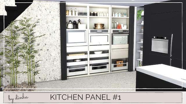 Sims 4 Kitchen Panel #1 at Dinha Gamer
