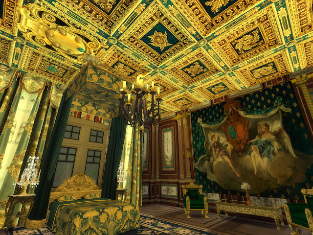 Amazing Golden Ornamented Ceilings Set II & III at Anna Quinn Stories image 21011 Sims 4 Updates
