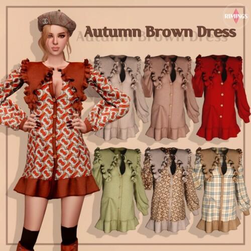 Autumn Brown Dress