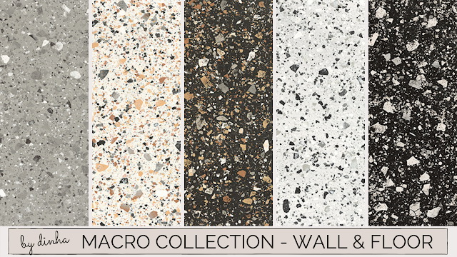Sims 4 Macro Collection: Wall & Floor 11 Swatches at Dinha Gamer
