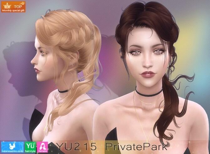Sims 4 YU215 PrivatePark hair (P) at Newsea Sims 4