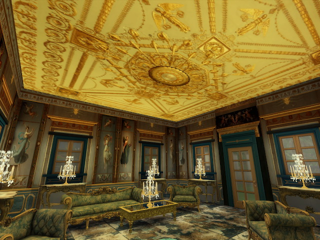 Amazing Golden Ornamented Ceilings Set II & III at Anna Quinn Stories image 21112 Sims 4 Updates