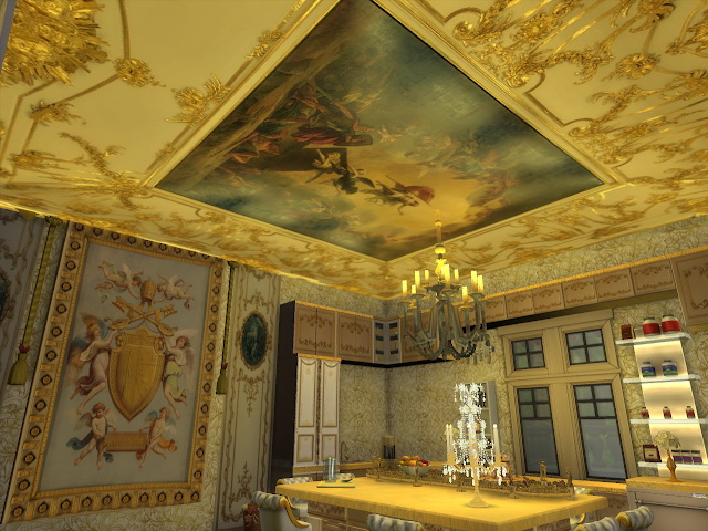 Amazing Golden Ornamented Ceilings Set II & III at Anna Quinn Stories image 21210 Sims 4 Updates