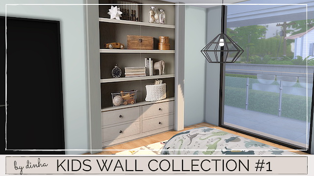 Sims 4 Kids Wall Collection: #1 #2 #3 at Dinha Gamer