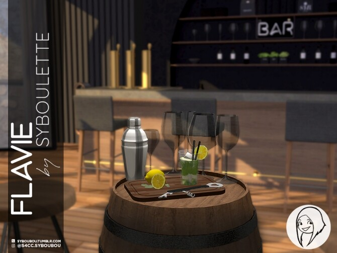 Sims 4 Flavie Bar Set Part 2 Clutter by Syboubou at TSR