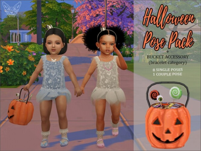 Halloween Pose Pack And Pumpkin Bucket For Toddlers