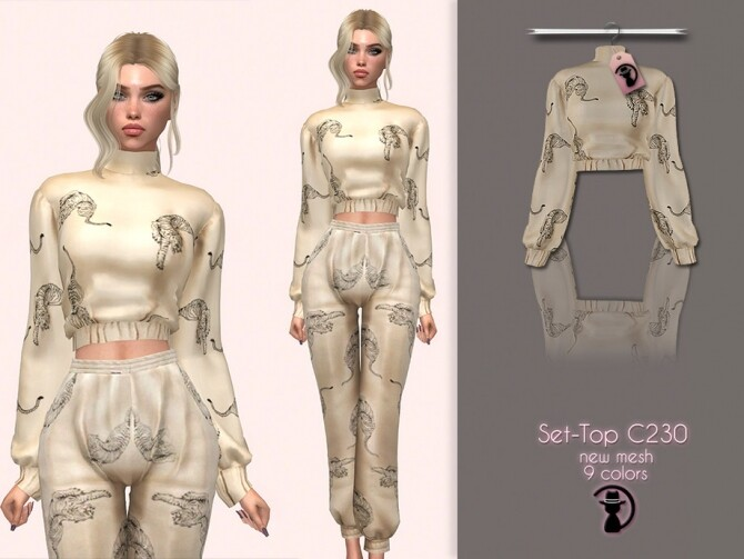 Sims 4 Set Top C230 by turksimmer at TSR
