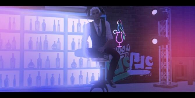 Sims 4 Bar stool pose pack at Rethdis love