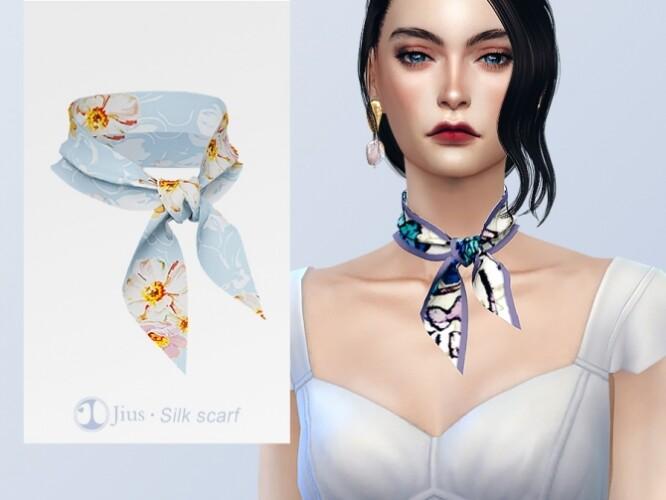 Silk scarf 01 by Jius