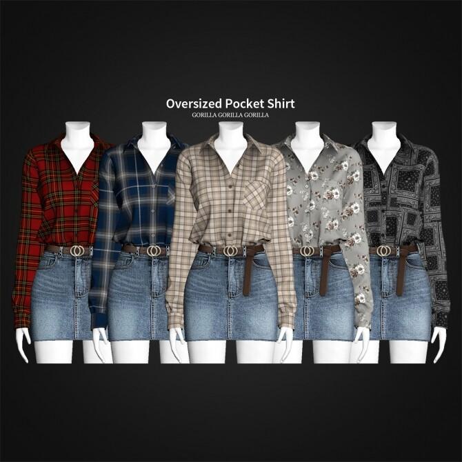Sims 4 Oversized Pocket Shirt at Gorilla