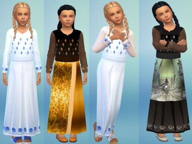 Sims 4 Kids dress recolor at Louisa Creations4Sims