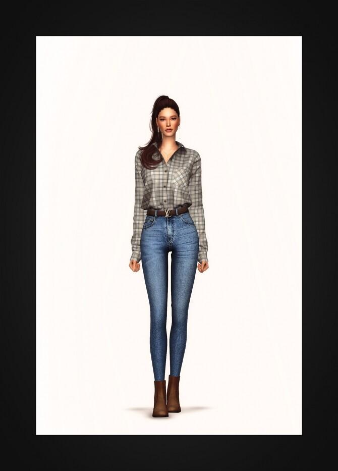 Oversized Pocket Shirt at Gorilla image 2185 670x933 Sims 4 Updates