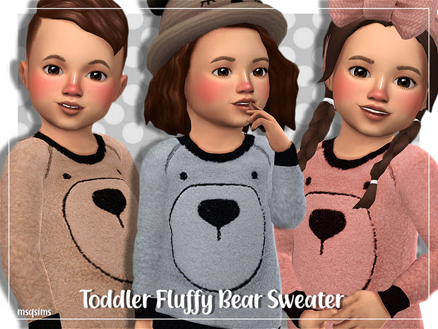 Toddler Fluffy Bear Sweater