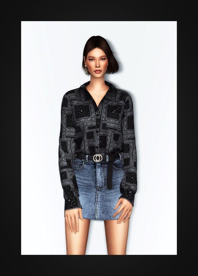 Oversized Pocket Shirt at Gorilla image 2195 670x933 Sims 4 Updates