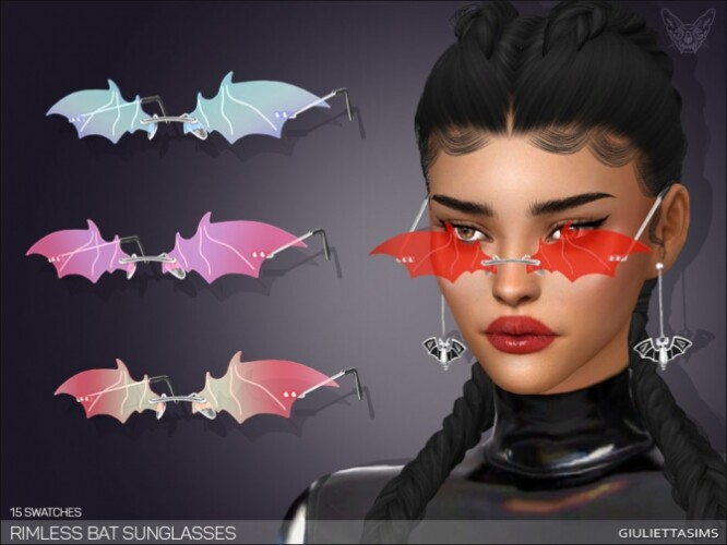 Rimless Bat Sunglasses