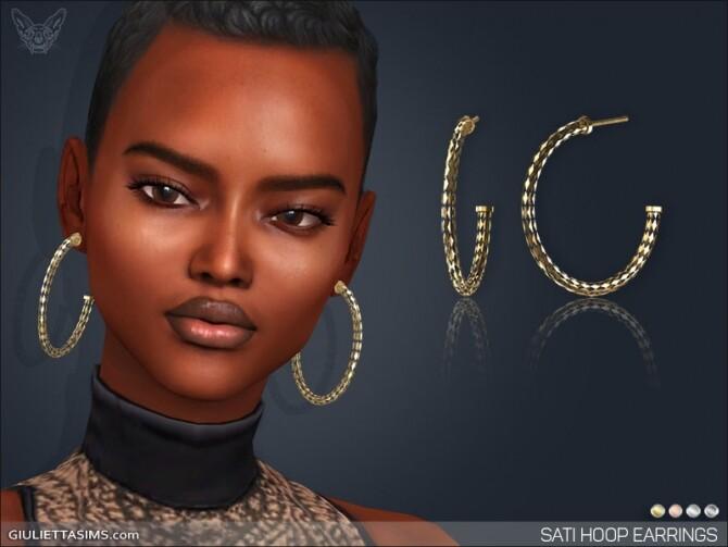 Sims 4 Sati Hoop Earrings at Giulietta
