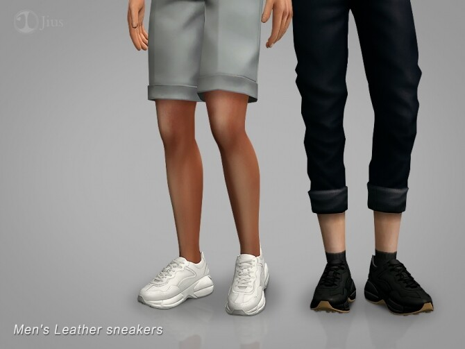 Sims 4 Mens Leather sneakers 01 by Jius at TSR