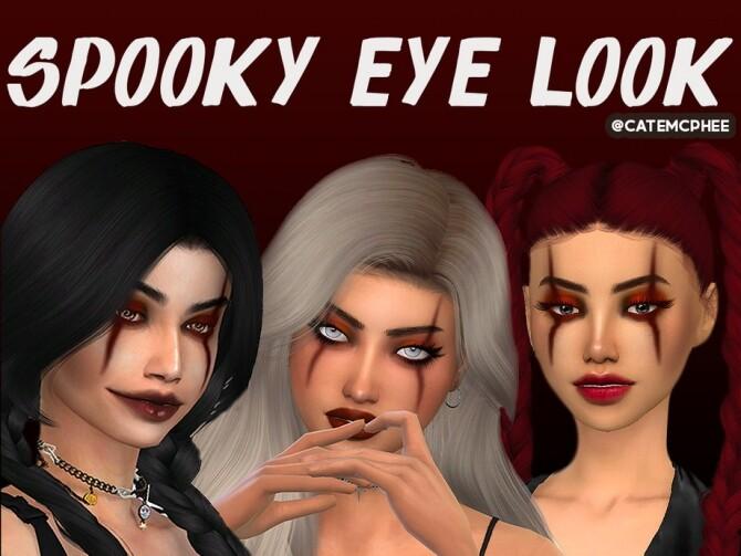 Sims 4 ES 11 Spooky Halloween Eye Look by catemcphee at TSR