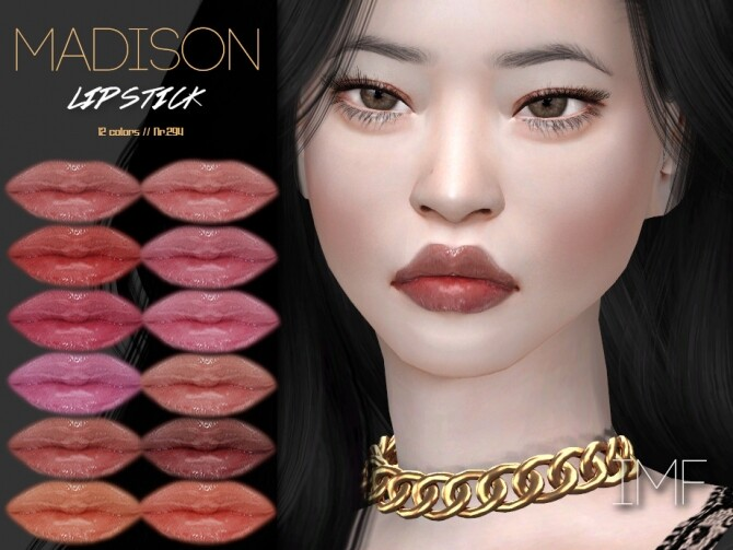 Sims 4 IMF Madison Lipstick N.294 by IzzieMcFire at TSR