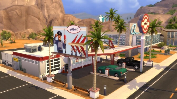 Sims 4 Restaurant Diner 50s by MegaEmilicorne at L'UniverSims